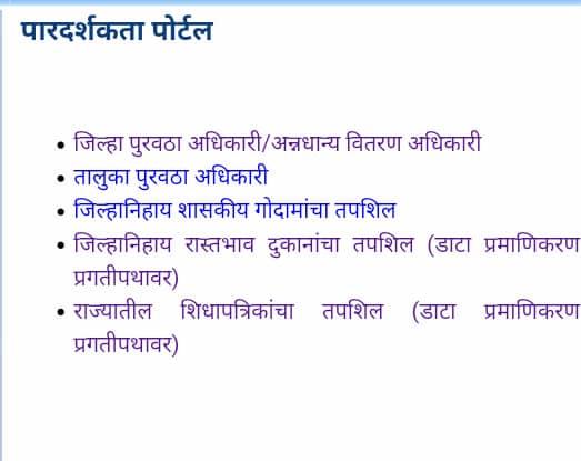 Maharashtra Ration Card List कैसे चेक करें 2020?